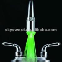 ABS LED lights rainbow changing bathroom basin faucet