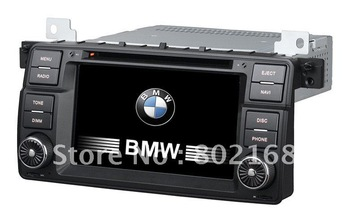 7 inch1din Car radio multimedia dvd player system for BMW E46 BMW 3 Series with dvd/bluetooth/radio/gps/iphone/ipod/6CD function