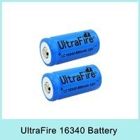 New Arrival Ultrafire Blue 16340 Battery 3.6V 880mAh Rechargeable Li-ion Batteries For Flashlight Torch Drop Shipping