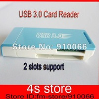 Free shipping + whosale top selling All In One Memory Card Reader USB 3.0 Multi Card Reader