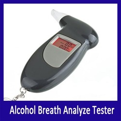 Free Shipping, LCD Digital Alcohol Tester, Digital Breathalyzer, Alcohol Breath Analyze Tester Dropshipping(Hong Kong)