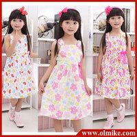 2013 NEW Cute Toddler's & Little Girl's Tiered Flower Dress girl's princess dress, Baby dress free shipping CD059