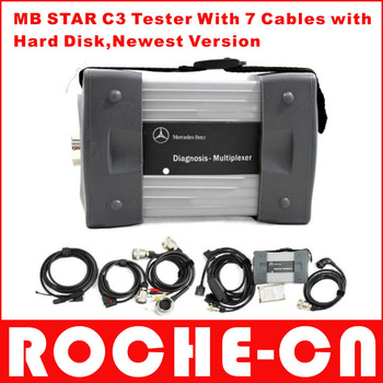 Sales promotion of MB star c3 with 7cables newest software version 2013.03 with Xentry function--(14)