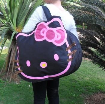 new canvas handbags shoulder bag large hello kitty handbag Shopping tote bag Hello Kitty cat face bags