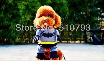 Lovely Pet Cat Dog Puppy Cotton Clothes Costumes Superman Spider-Man Batman Clothing Suit size XS,S,M,L,XL excellent quality