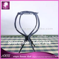 Black color Plastic wig holder /wig stand