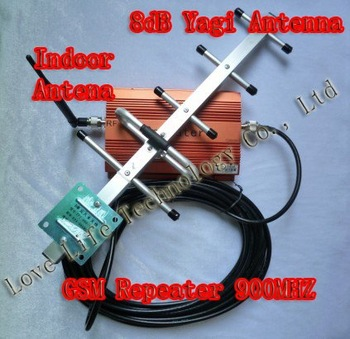 100% Cheapest  Signals Repeaters GSM 900MHZ TD950 with Indoor & 8dB Yagi Antenna Warranty 1.5YS +Freeshipping Chinapost