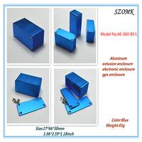 "4 pieces a lot aluminum extusion enclosure /electronic enclosure   AE-060-BE1   27x66x30mm  1.06""x2.59""x1.18"""