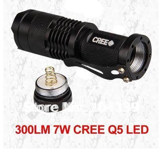 Светодиодный фонарик Zoomable 700lm Torch Flashlight Light 7W CREE Q5 LED 1Piece