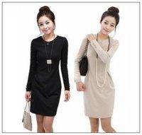 Free shipping 2014 Fall  dress Plus Size XXL  long sleeve work office women  Casual bandage  dresses  women work wear vestidos