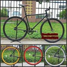Schwarzen rahmen( 50cm) + 7- farbe felge& Reifen( 700x23c) festrad fahrrad, fixee 2. 0, Sonderpreis!(China (Mainland))