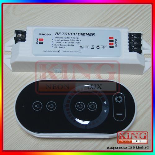 Livraison gratuite à distance sans fil led gradateur contrôleur dc 12v dc24v luminositéprix, roue gradateur, tdc03 gradateur