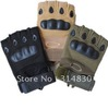 Motorcycle Half finger Airsoft Tactical Military Carbon Knuckle Fingerless Gloves M L XL