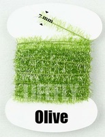 Olive Color, 20 Cards Ice Cactus Chenille, Fly Tying, Jig, Lure Making, Fishing