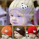 new style free shipping fashion baby bear hat baby cap infant hat infant cap headress(China (Mainland))