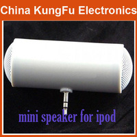 10pcs  Fashion Barrel-Style Super Mini Speaker For Ipod,Laptop,Mp3, Phone,Etc. White Color  Dropshipping