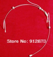 Free Shipping Duoble Ear-Hook Mini headset microphone for SHURE wireless microphone system with bodypack