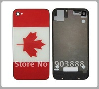 Free Shipping ,Canada Flag Logo ,Back Cover Housing for iPhone 4G 4S 5Pcs/lot