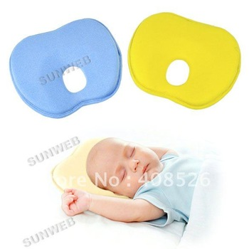 New Newborn Baby Toddler Safe Anti Roll Pillow Sleep Head Positioner Preventing Flat Head free shipping 7106