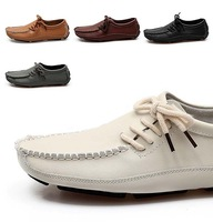 fashion new cheap lace-up driving shoes men size 5.5 - 9.5 (Beige, Black, Brown, Gold Yellow, Gray) Free shipping