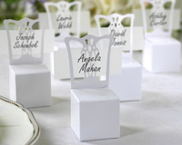 200 PCS/LOT  White Chair Candy box Place card Holder Baby Shower favor  Gift Box Free Shipping Wedding favor box