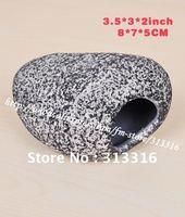 Free shipping,SALE 2PCS Ceramic Shrimp Decor Aquarium Ornament,Zoo Med Aqualog Fish Shelter,Fast shipping