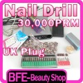 Up to 30000RPM ELECTRIC NAIL ART DRILL FULL SET Machine With UK Plug Free Shipping