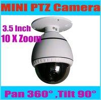 3.5inch 480TVL Sony CCD Pan/Tilt/Zoom Mini Speed Dome IP Camera,10x optical 4-16mm lens 32 preset,ptz dome camera KE-MI5100-A