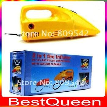 Anto DC 12V 120W Handheld Car Vacuum cleaner,dry/wet amphibious/Air Compressors Playing Pump + Air Pump + Pressure Gauge