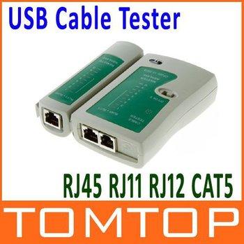 RJ45 RJ11 CAT5 UTP NETWORK LAN USB CABLE TESTER C119 Free Shipping Dropshipping Wholesale