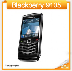 9105 100% Original Unlocked Blackberry Pearl 9105 Cell Phone 3G WIFI GPS 3.2MP 1 year warranty Fast shipping to Russia(China (Mainland))