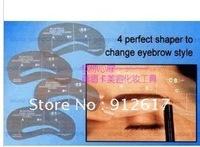 HOT 2012 New eyebrow stencil A1,A2,A3,A4 shape easy DIY beauty tool stencils fashion 400pcs