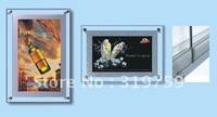 2PCS Crystal LED Ultra-thin light box, LED advertising light box 1200x900mm, free shipping