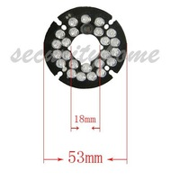 24 pcs 850nm Leds Infrared IR Board for Security CCTV Camera 90 Degrees Dia.5mm