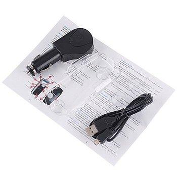 Solar Powered Bluetooth Car Kit Handsfree FM+MP3 Player
