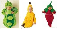 Free shipping Baby sleeping bags Fleece green peas yellow banana red chili sleeping bag  70cm 95cm 6pcs/lot
