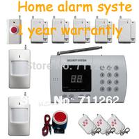 Wireless PIR Home Security Burglar Alarm Intruder Systems Auto Dialer+wireless Panic button