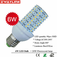 nature white 6W led corn light 6W led bulb