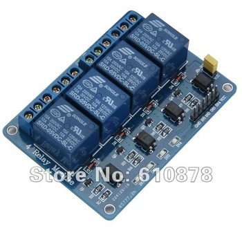 Free Ship, 4 Channel 5V Relay Module for PIC ARM TTL AVR DSP Logic MSP430 etc