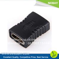 Black HDMI Female To Female Adaptor Coupler For HDTV