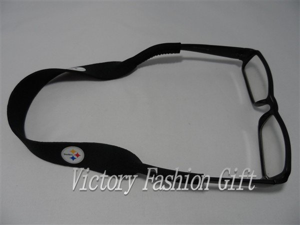 Brand new steelers neoprene sunglasses strap customerized football sunglasses strap SBR, SCR, CR 500pcs/lot(China (Mainland))