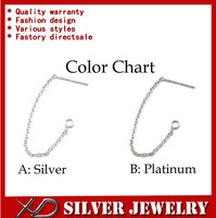 XD P224 925 sterling silver ear wire long earrings chain for dangle earring diy jewelry accessories total lenght 60mm