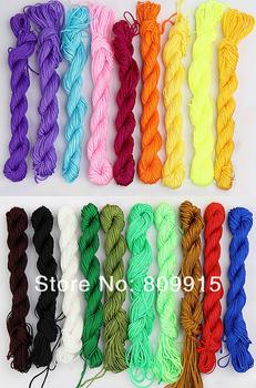 4pcs/lot 1mm Chinese Knot Macrame/Rattail Braided Nylon Shamballa Cord Thread 27m I0007
