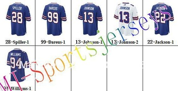 Free shipping-Wholesale Buffalo White/Blue jerseys,Football team jerseys,10Pcs/Lot