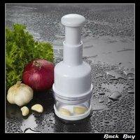 NEW Free Shipping whitecolor plastic+stainless steel  Magic Garlic Crusher Peeler&Mincer Kitchen Tool Useful BB154