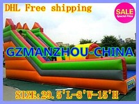 DHL Free shipping  inflatable slide  Commercial advertising SIZE:29.5'L-8'W-15'H support by sea