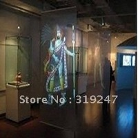 Super Selling! 1.5X5 Meter 3D Transparent Holographic Foil ,Rear Foil With Supreme quality Fedex Free Shipping!