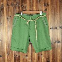 Fashion Japanese Linen Cotton Man's Leisure Shorts for Beach  green colour