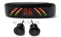 Guaranteed 100% Reverse Sensor Parking Radar New LED Display Car Parking Sensor System with 2 Sensors + 2012 Best Selling