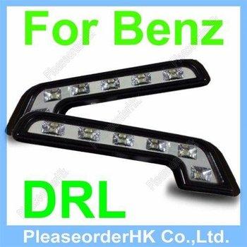 2x 6LED Mercedes Benz Style Daytime Running Light Fog DRL Super White 12V DC Free Shipping